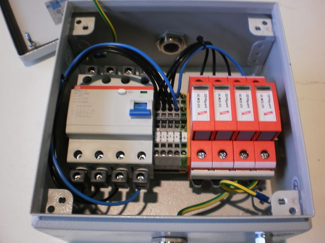 504 - Connection Box - Connection Boxes w/ Lightning Protector and RCD