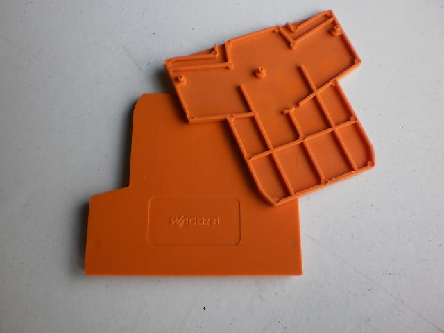 605 - END PLATE - END PLATES WAGO 281-309 ORANGE